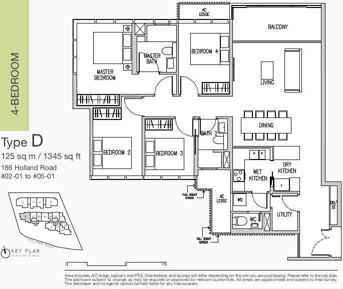 Van Holland Floor Plans . 4 Bedroom Type D