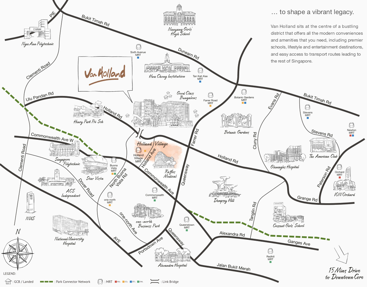 Van Holland Location Plan . Amenities