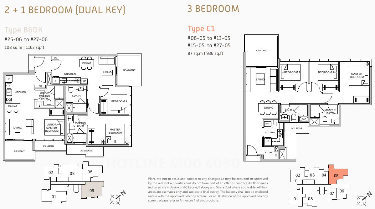 Verticus Condo Floor Plan Layouts . 3 Bedroom & Dual Key
