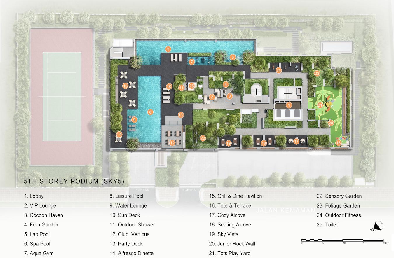 Verticus Condominium . Facilities Level 5