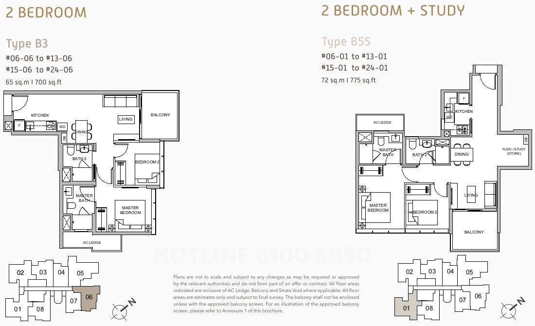 Verticus Floor Plans Layouts . 2 Bedroom Unit Types