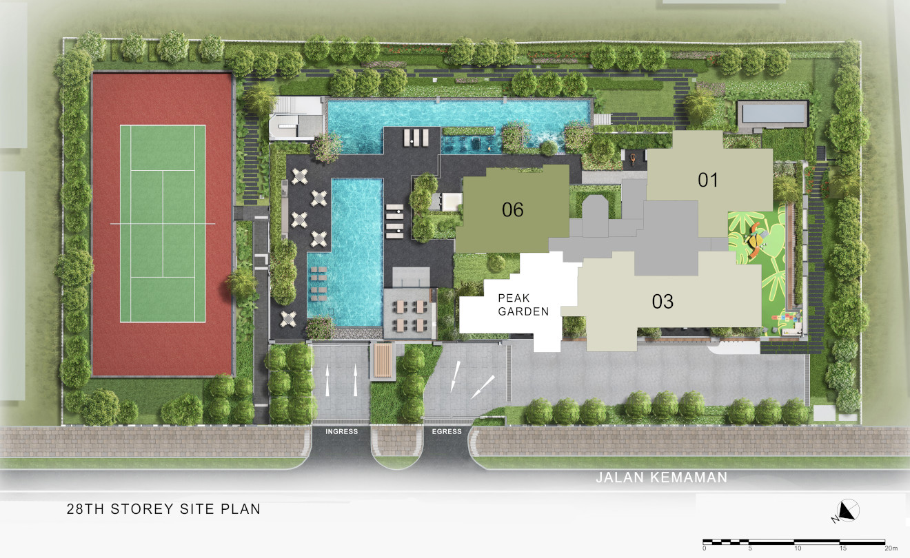 Site Plan . Level 28