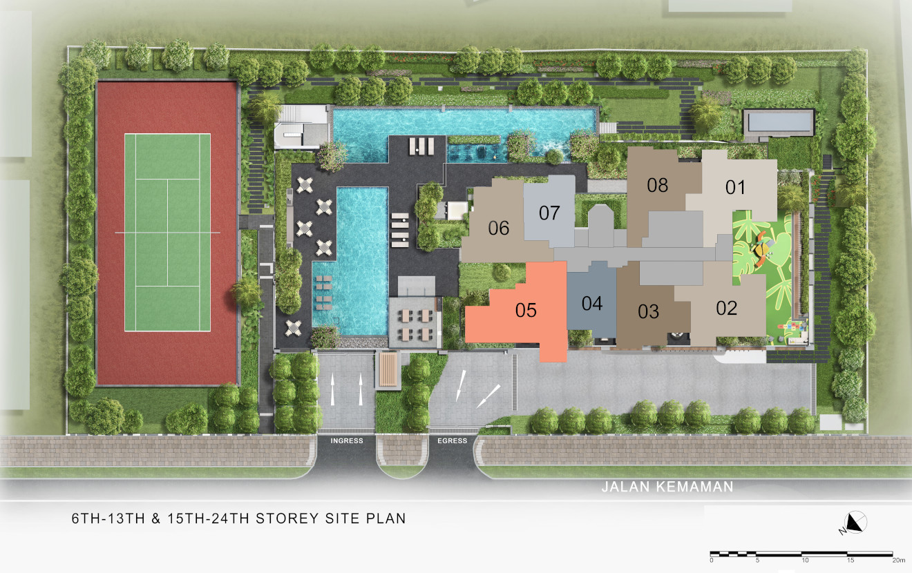 Verticus Site Plan . Levels 6-13 and 15-24