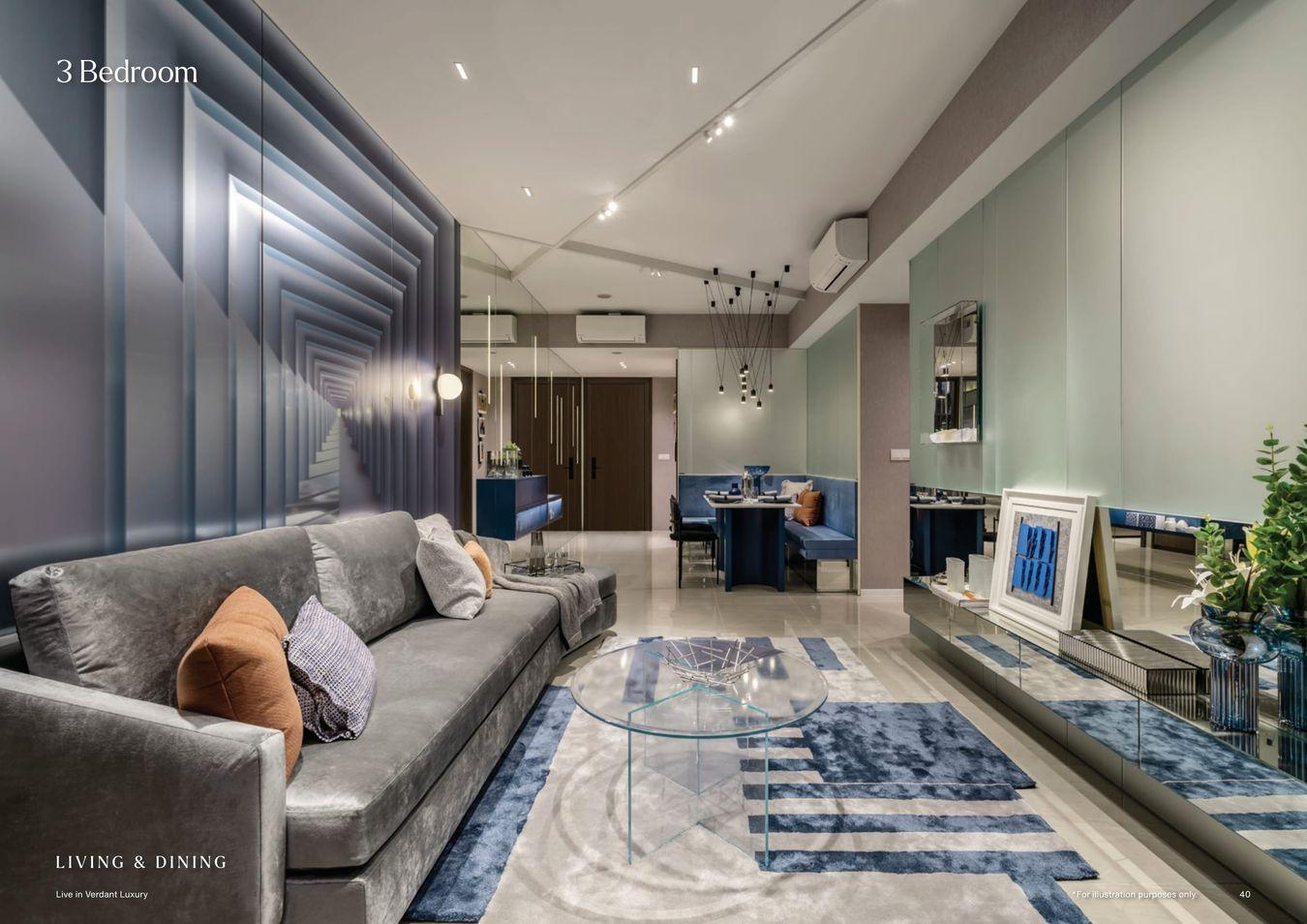 Watergardens Showflat . 3 Bedroom Living Dining