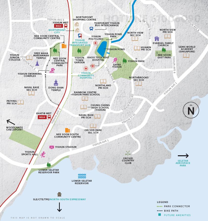 Yishun Estate Map