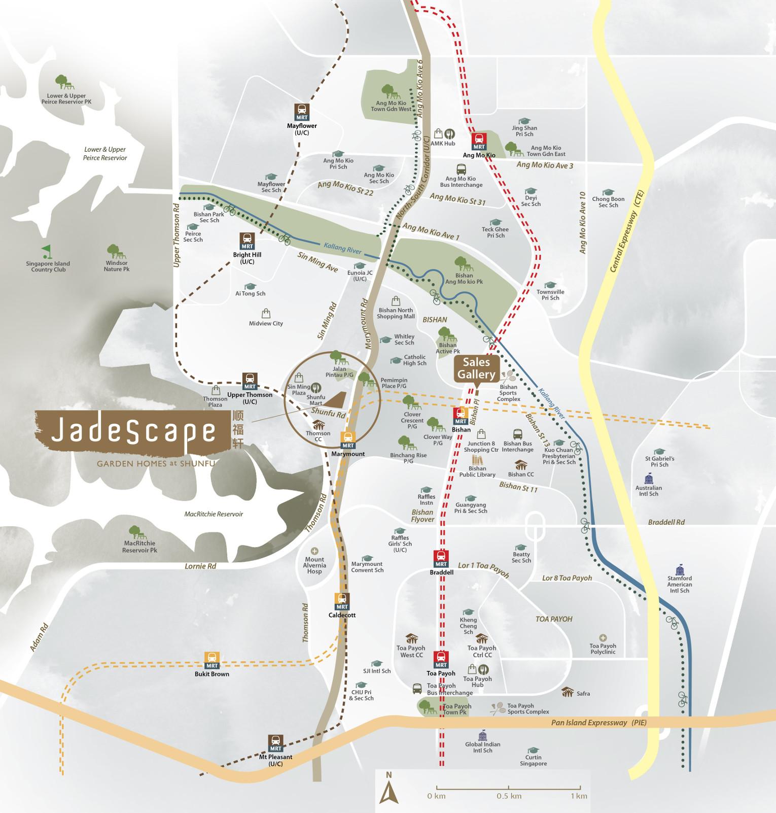 JadeScape Location Map Amenities