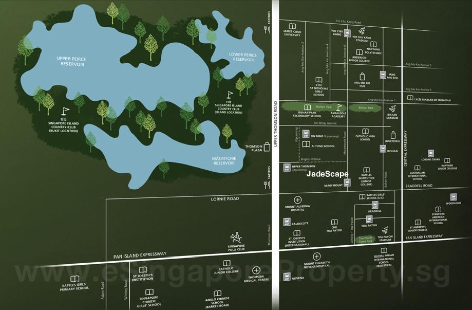 Jade Scape Condo Location Map Amenities