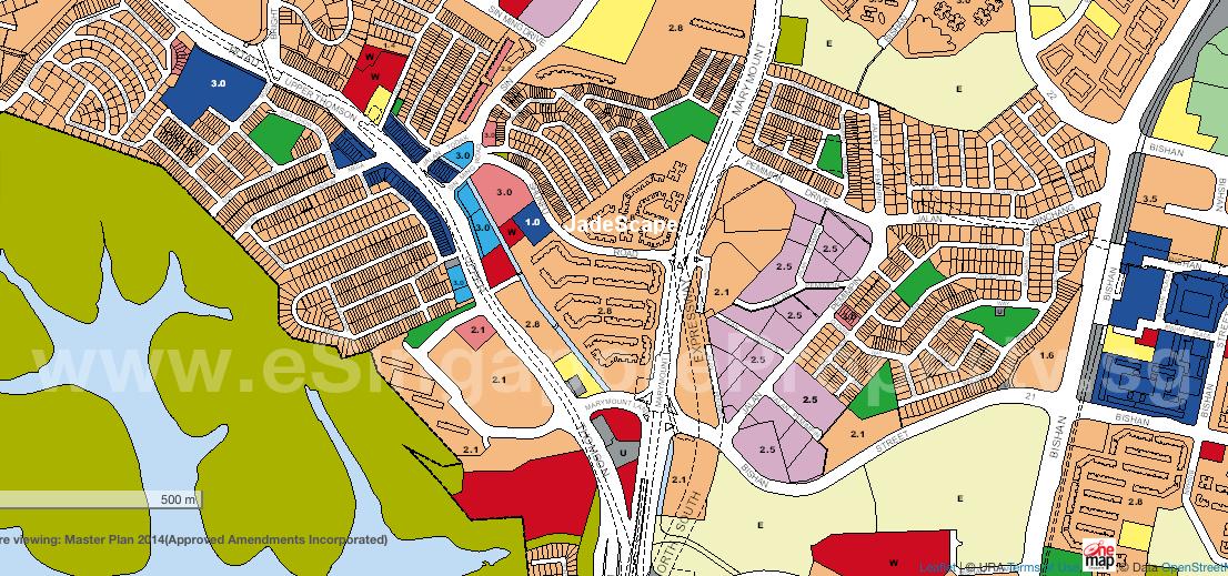 JadeScape Condo Location Plan Zoning URA