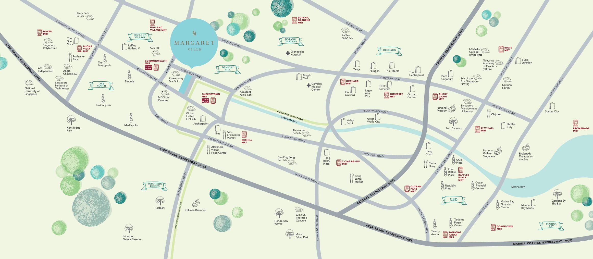 Margaret Ville Condo Location Plan