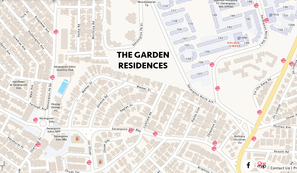 The Garden Residences Location Plan