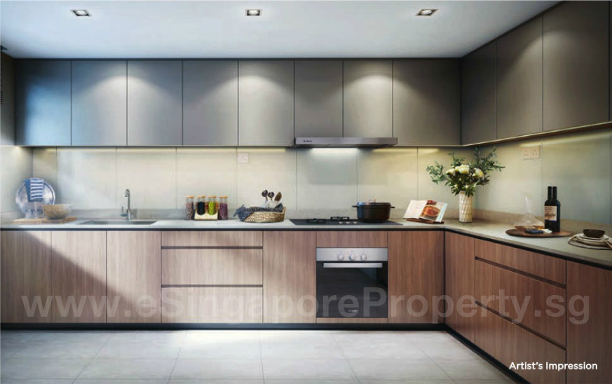 Twin VEW Showflat Artists Impression Kitchen