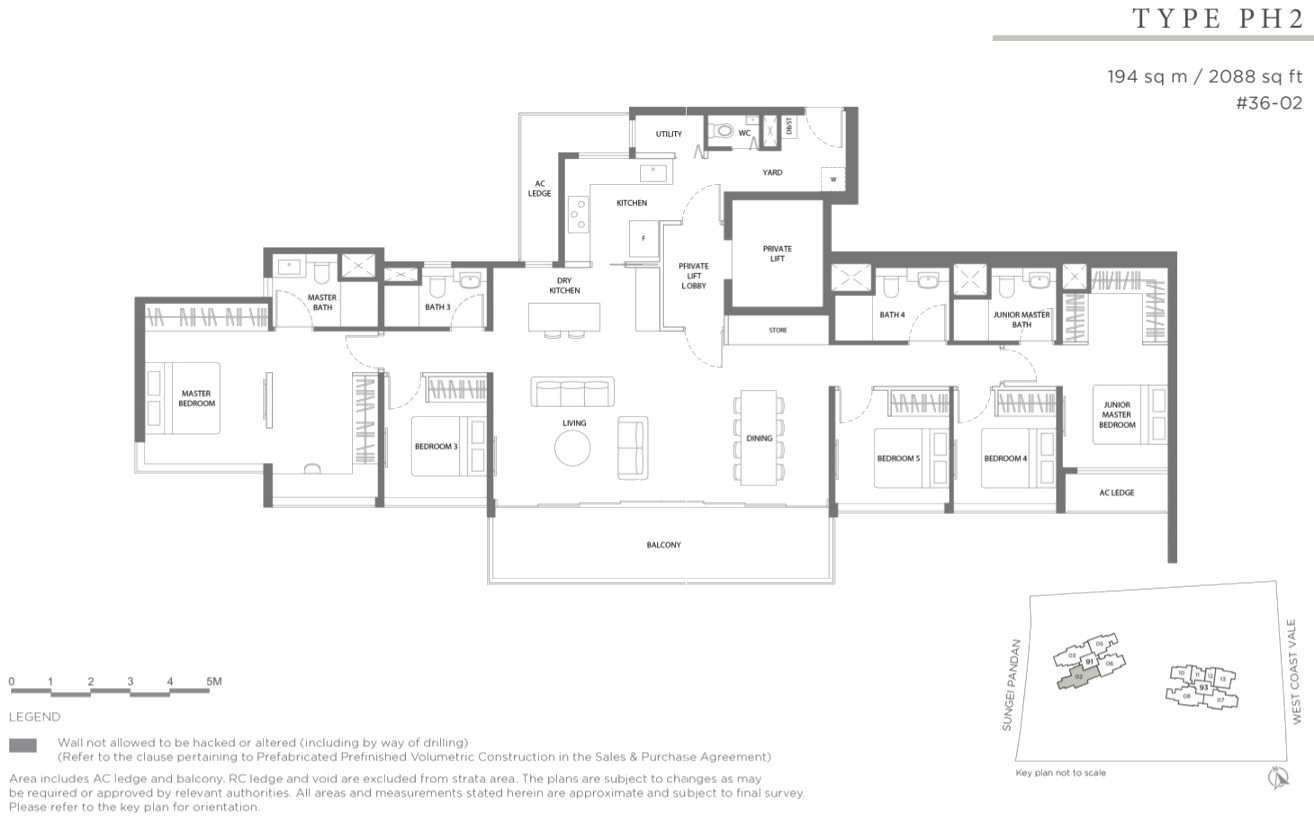 Twin View Condo Floor Plan Penthouse Type PH2