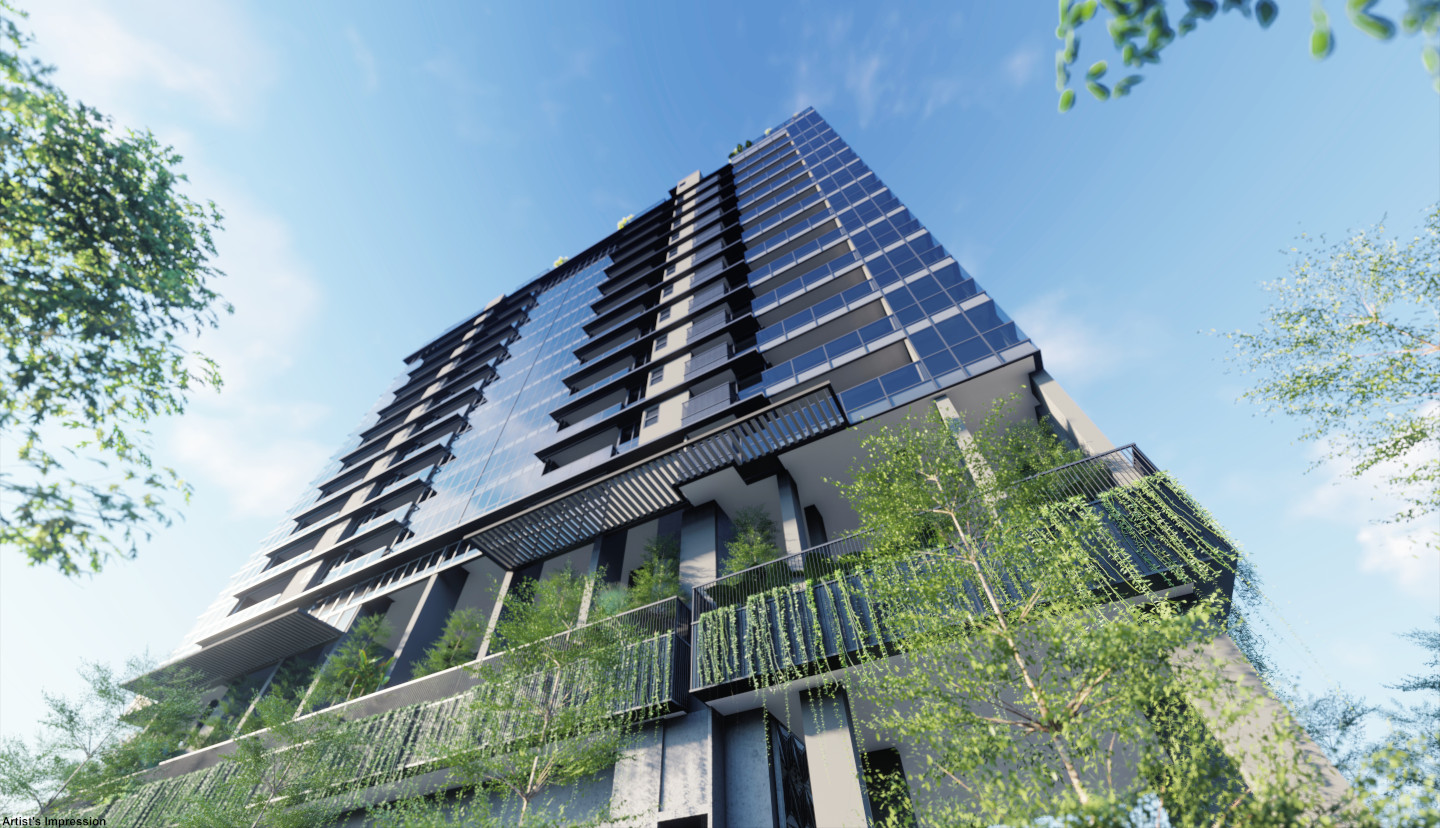 Artist's Impression . Arena Residences Condo . Ground View of Tower