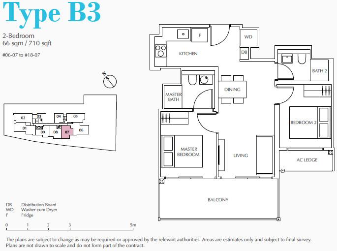 Jui Condo Floor Plan . 2 Bedroom Type B3