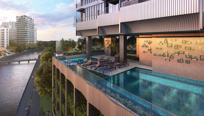 Jui Condo Singapore Pool Landscape View