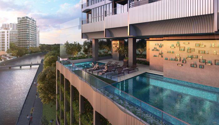 Jui Condo Singapore Pool Landscape View