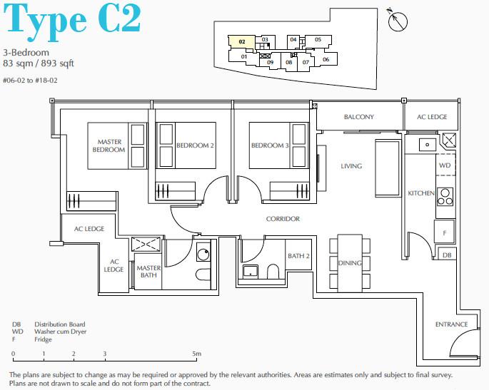 Jui Floor Plan . 3 Bedroom Type C2