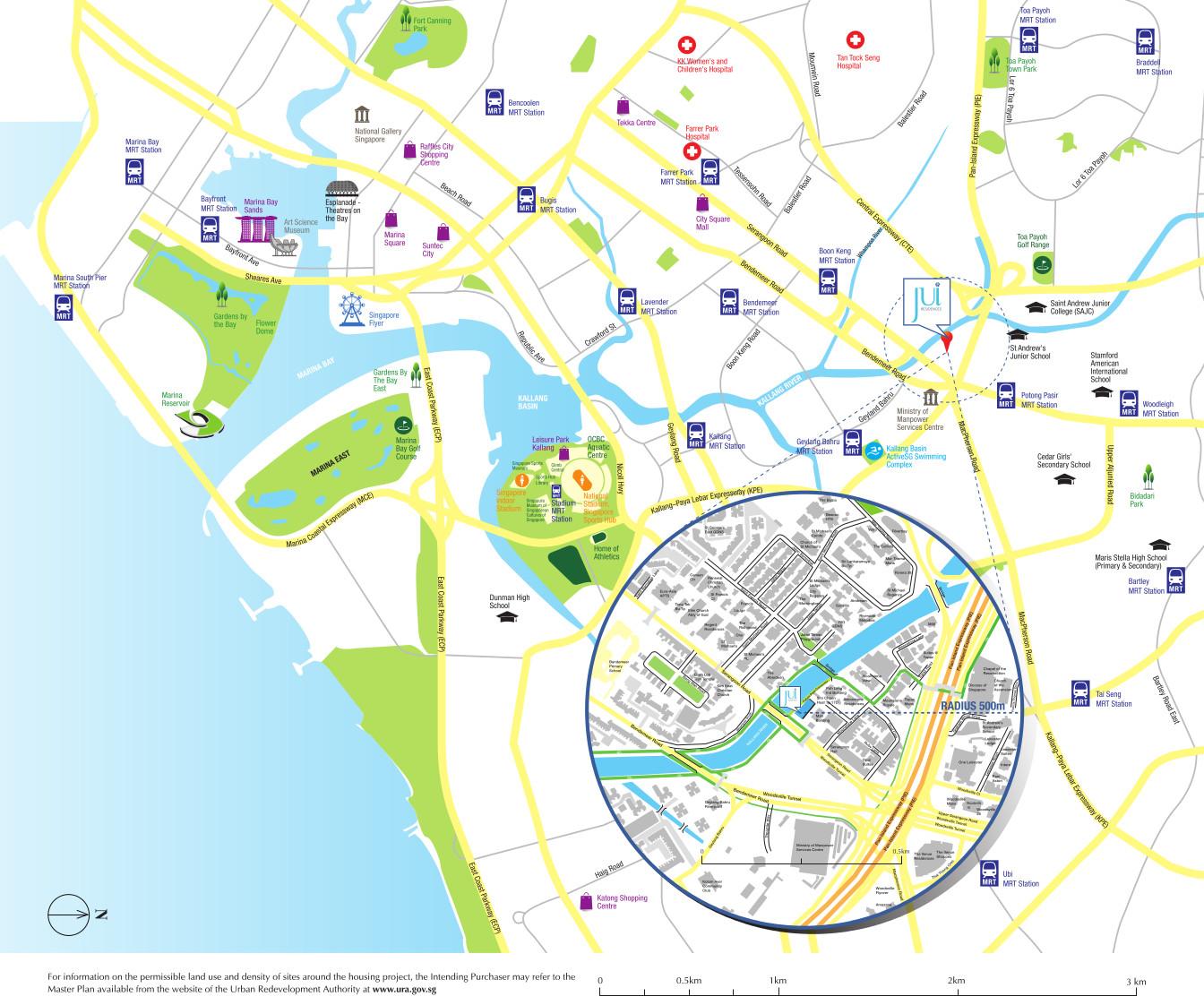 Jui Residences Location Map