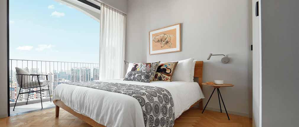 Jui Residences Showflat . Bedroom