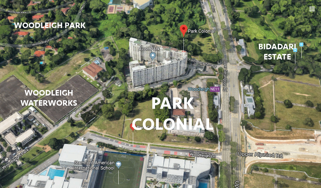 Park Colonial Site Location . Surrounding Facilities