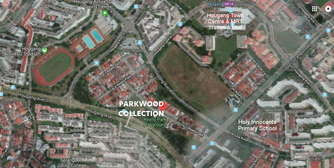 Parkwood Collection Houses . Site Location