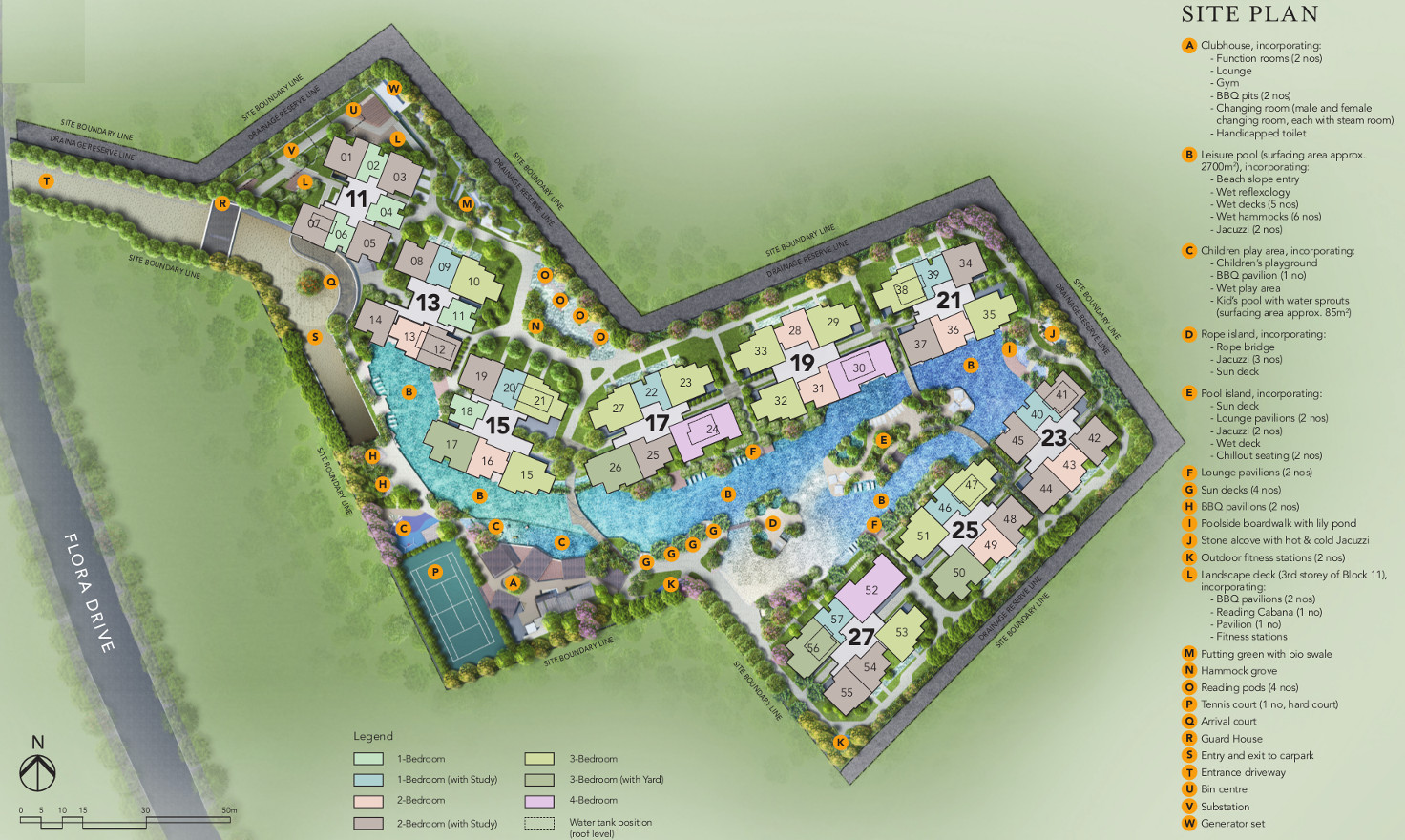 The Jovell Condo Site Plan Layout . Unit Types & Facilities