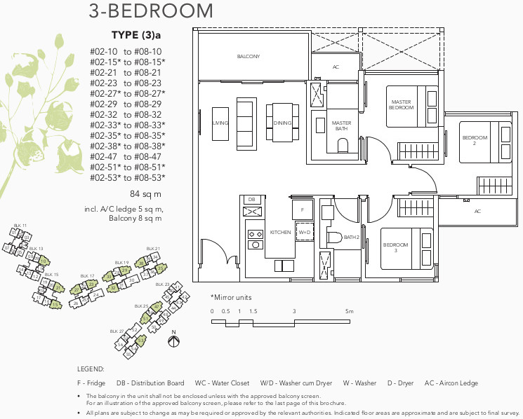 The Jovell Condo Showflat Floor Plan . Compact 3 Bedrom Type (3)a