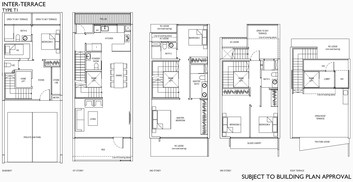 Belgravia Green Floor Plan Terrace with Lift (Draft)