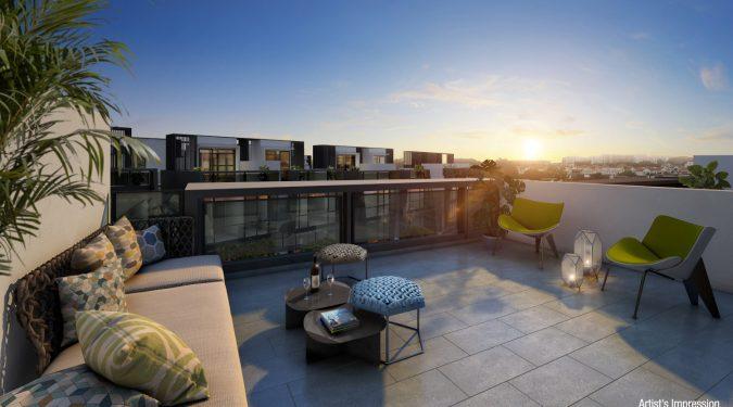Belgravia Green Showflat . Roof Terrace