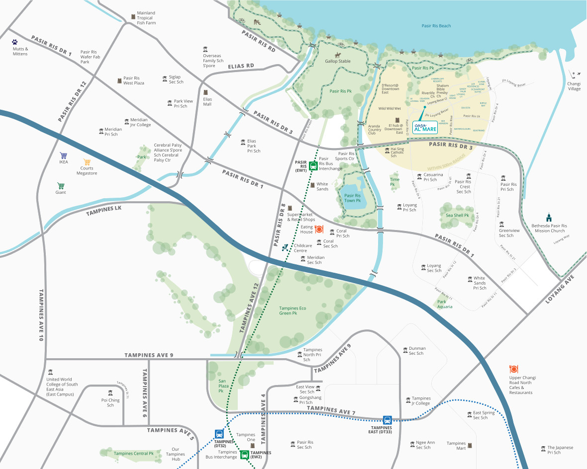 Casa Al Mare Location Map