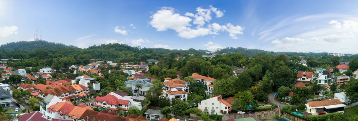 Mayfair Gardens North View from Level 5 . Bukit Timah Hill & Landed Estate