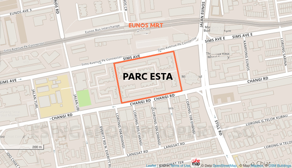 Parc Esta Singapore Location Site