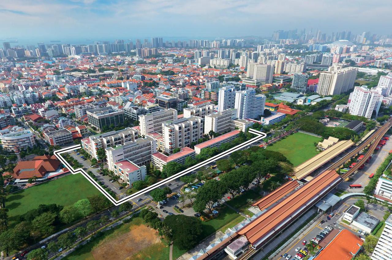 Parc Esta Condo Singapore . Former Eunosville opposite Eunos MRT Station