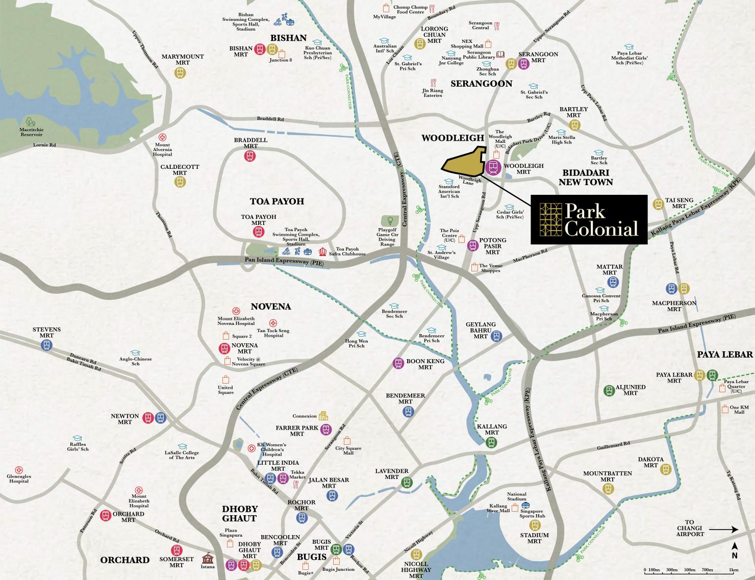 Parc Colonial Condo Location Map . Click to Enlarge