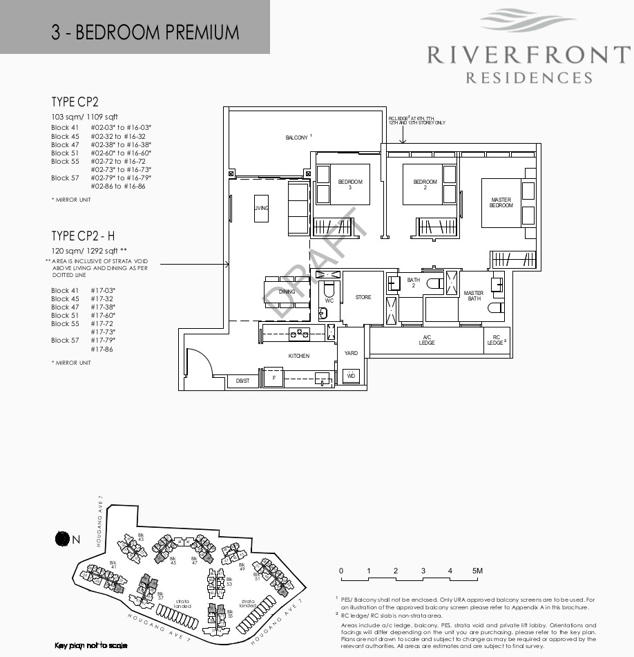 Riverfront Condo Floor Plan 3 Bedroom Premium