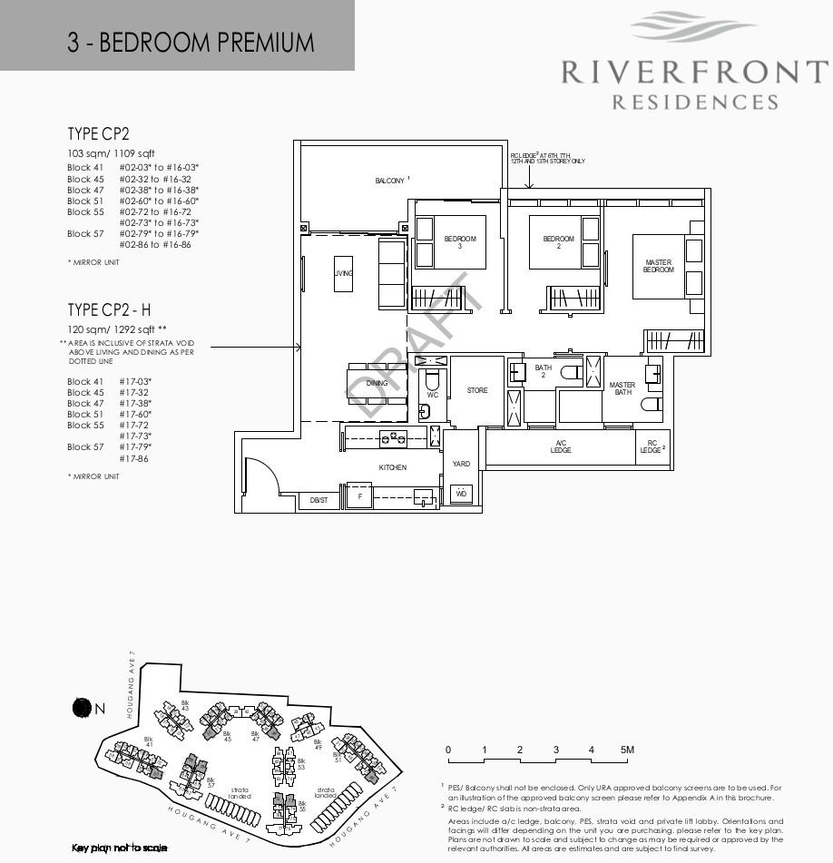 Riverfront Condo Floor Plan 3 Bedroom Premium