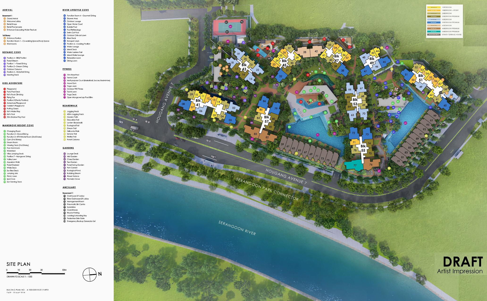 Riverfront Residences Singapore Site Plan