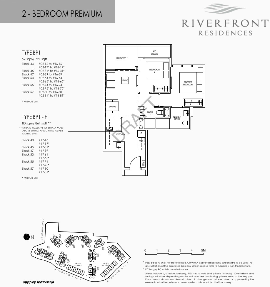 Riverfront Residences Floor Plans 2 Bedroom Premium