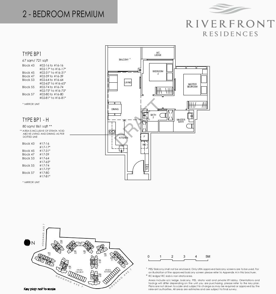 Riverfront Residences Floor Plans 2 Bedroom Premium