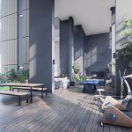 Arena Residences Condo . Gym & Entertainment Area
