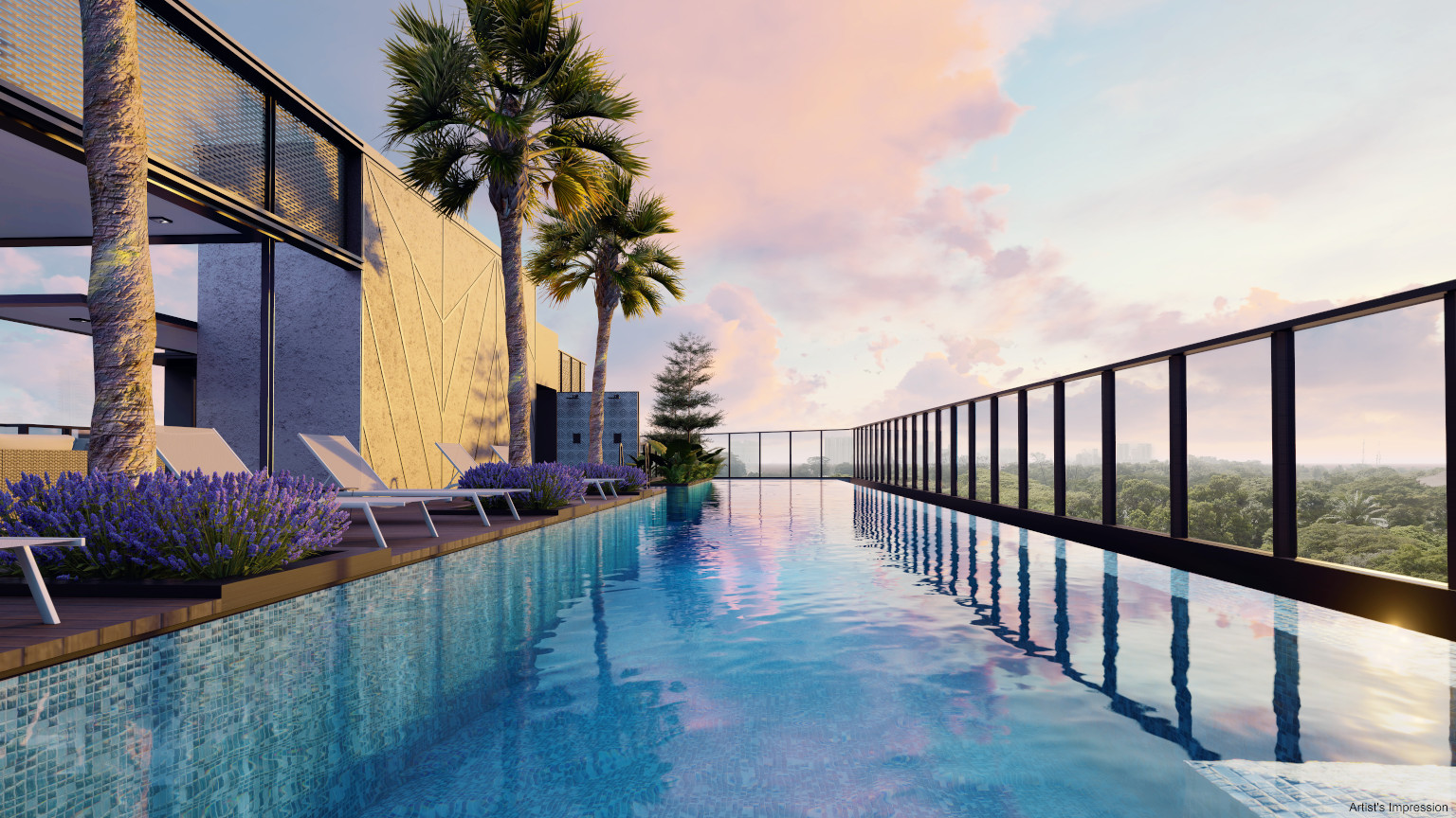 Arena Residences Condo . Rooftop Pool