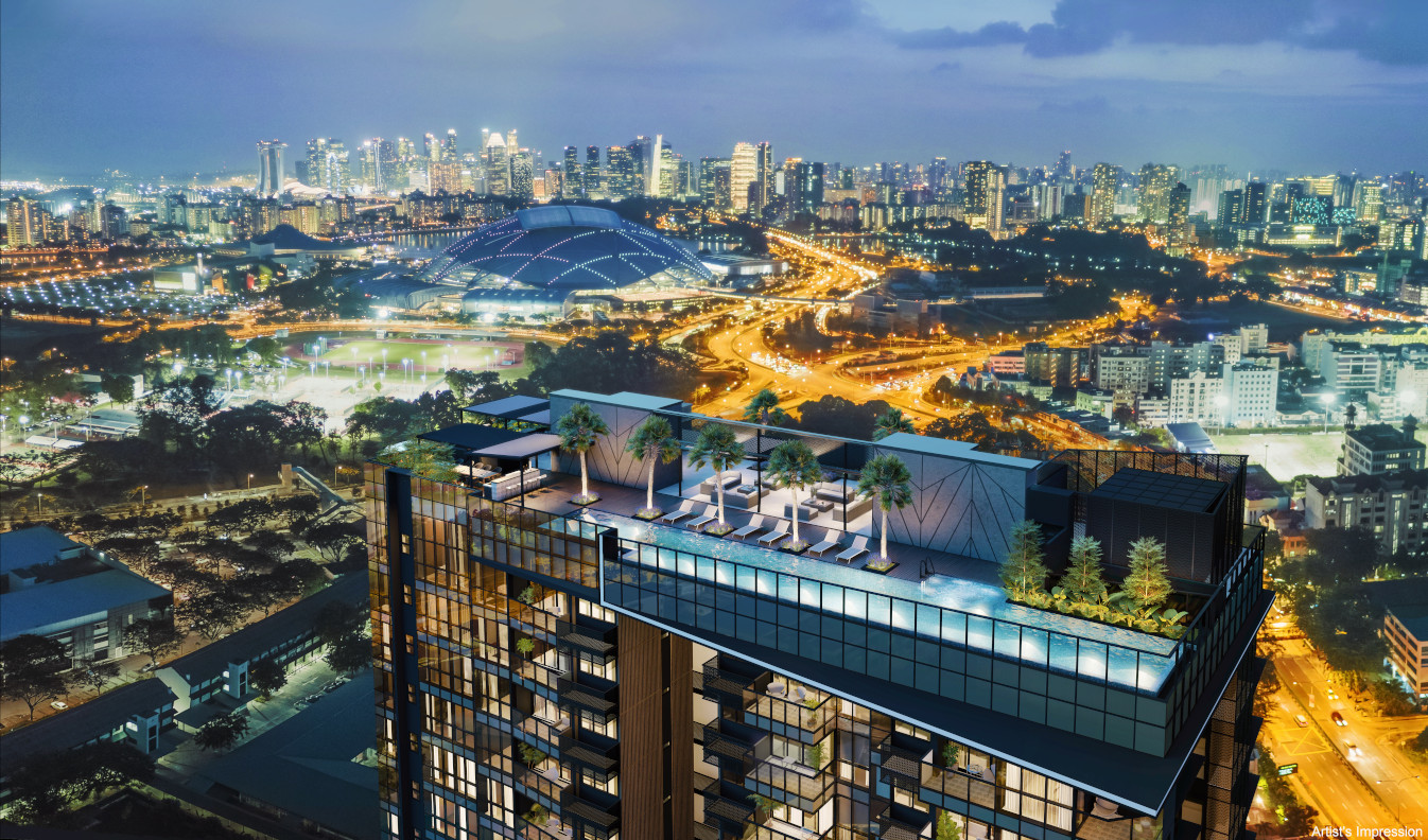 Arena Residences Singapore . Views to City Skyline