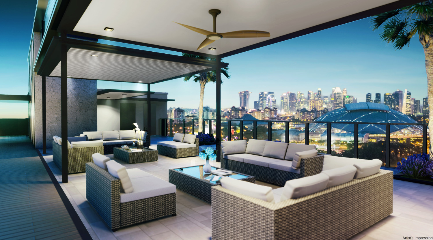 Arena Residences Singapore . Rooftop Pavilion