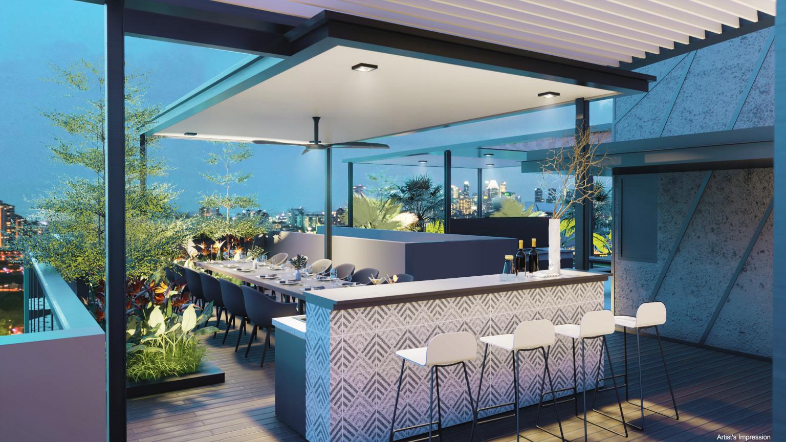 Arena Residences Singapore . Sky Dining