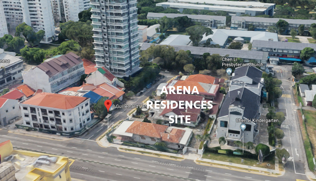 Arena Residences Singapore Site & Neighbouring Blocks