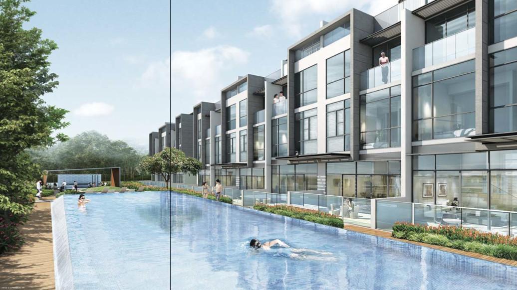 Belgravia Villas Pool by Tong Eng . Developer for Belgravia Green Singapore