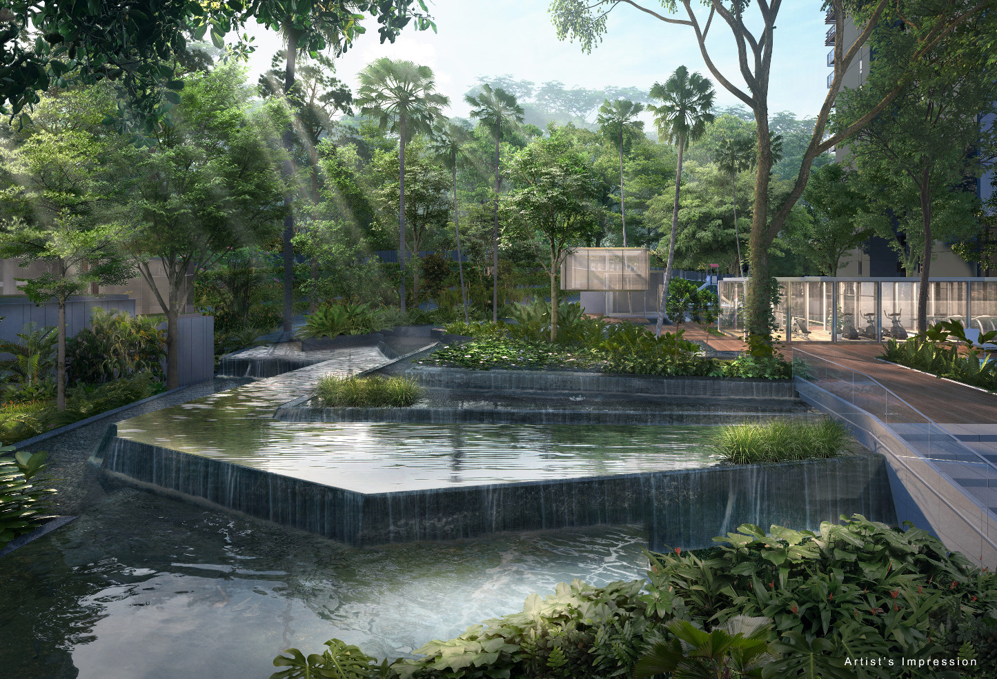 Artist's Impression . Jade Scape Condo Forest Waterfall