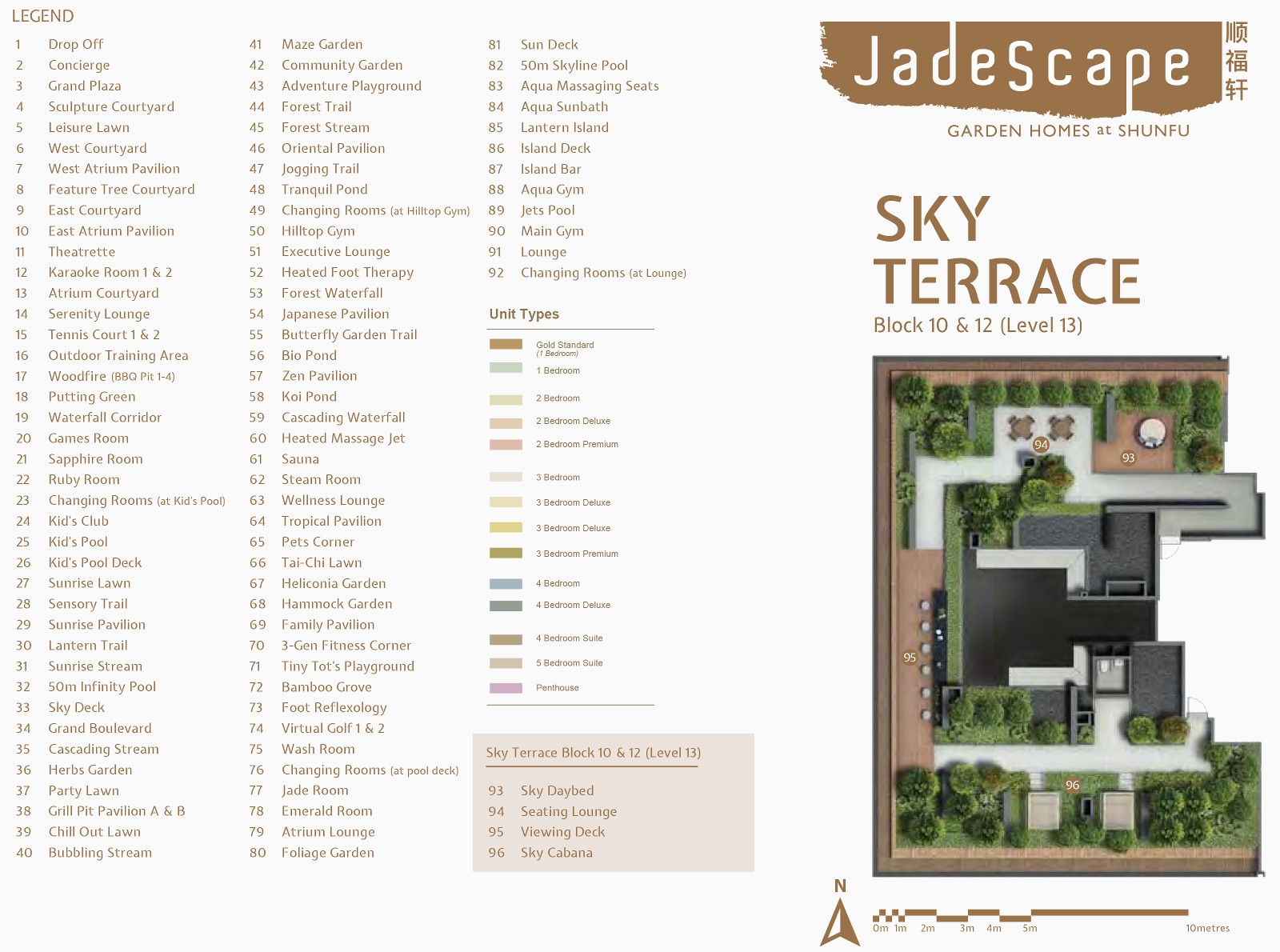 JadeScape Condo Site . Legend and Sky Garden Layout