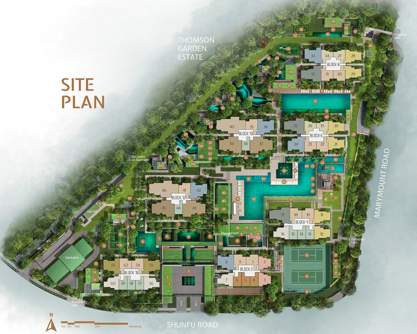 JadeScape Site Plan Layout & Unit Types