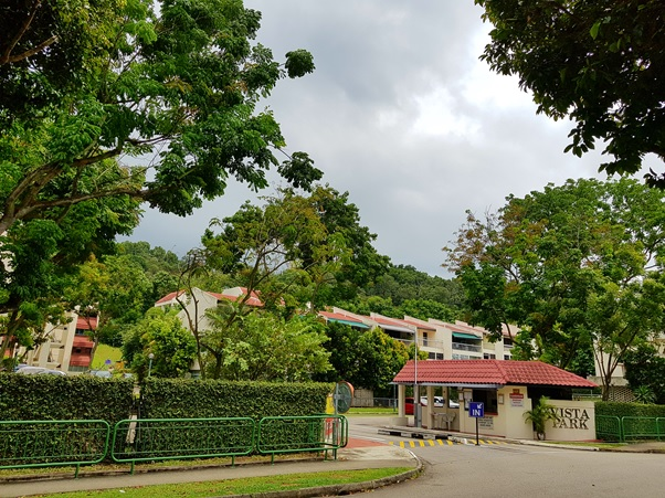 Kent Ridge Hill Residences Site . Former Vista Park